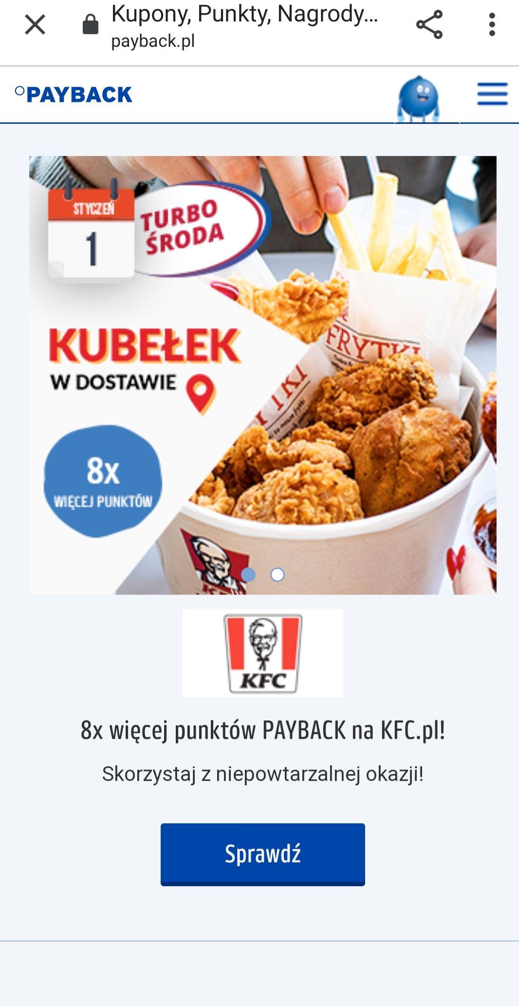 Turbo środa w PAYBACK i KFC 8x więcej punktów