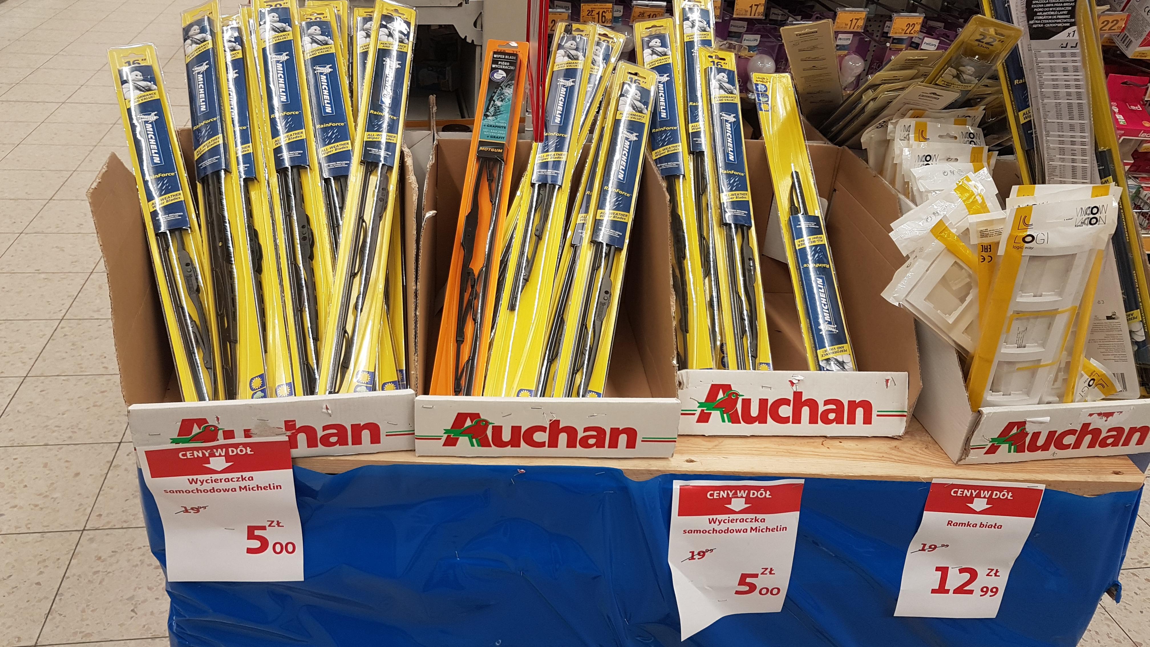 Wycieraczki Michelin, Auchan - WYPRZEDAŻ