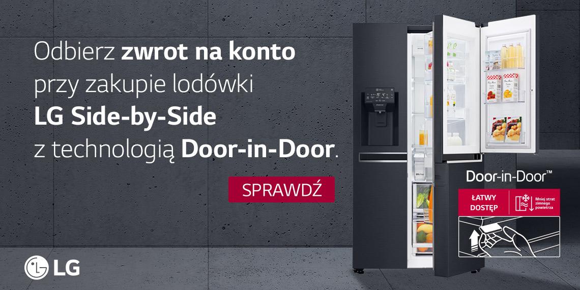 Promocja Zwrot za zakup lodówki LG Door in Door (Cashback)