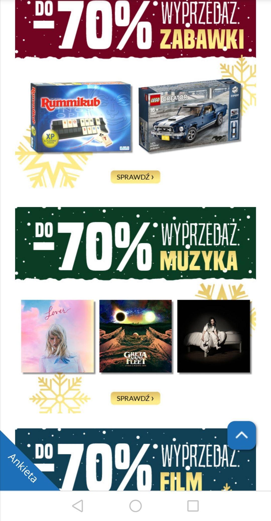 Wyprzedaż Livro.pl - do 70% na muzykę, książki, filmy i zabawki