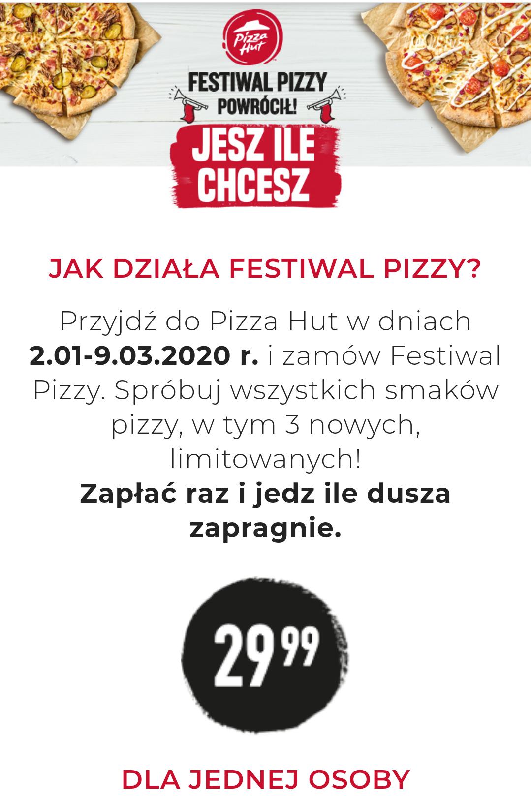 FESTIWAL PIZZY w Pizza Hut znowu powraca!