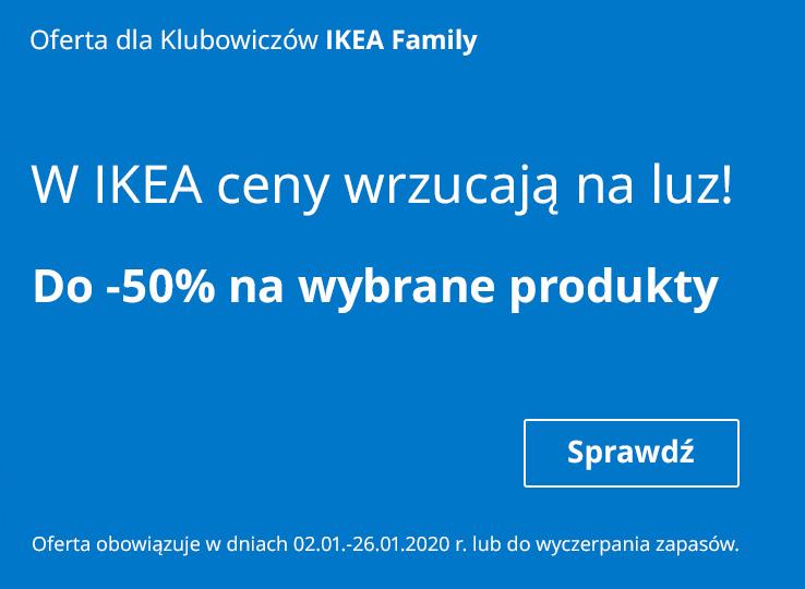 Do 50% rabatu na wybrane produkty @ Ikea