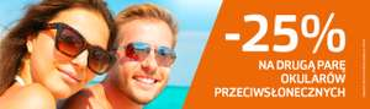 -25% rabat na drugą parę okularów przeciwsłonecznych @ Vision Express
