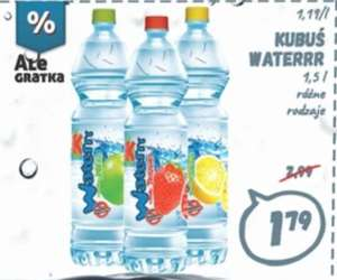 Woda Kubuś Waterr 1.5 l - Market Wafelek
