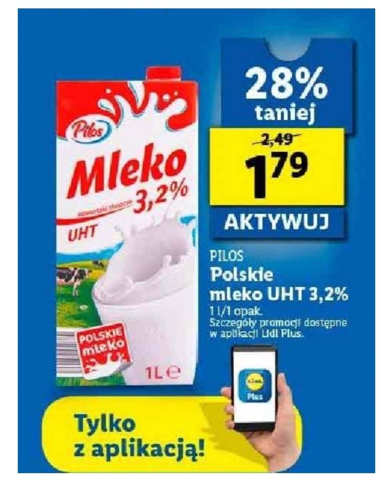 Mleko Pilos. Lidl