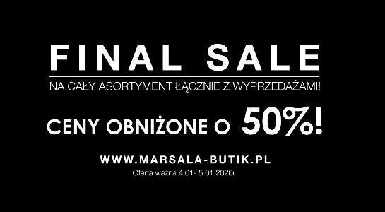 Odzież damska -50% w Marsala-butik