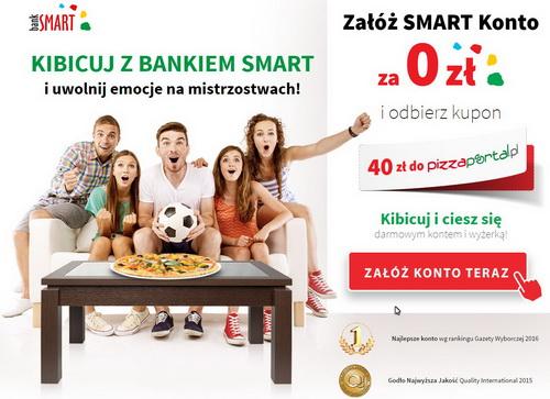 Kupon 40zł pizzaportal.pl za założenie konta w banksmart.pl