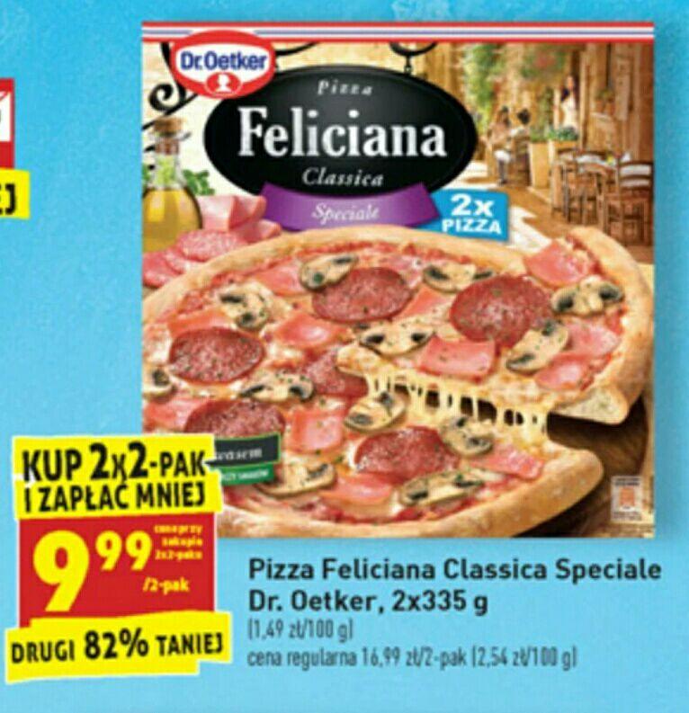 Biedronka, pizza Feliciana dwupak za 9,99zl opakowanie przy zakupie dwóch opakowań