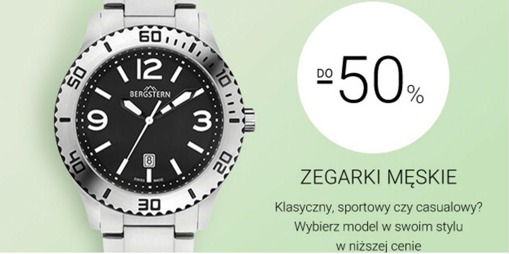 Do 50%rabatu na wybrane zegarki męskie - Apart