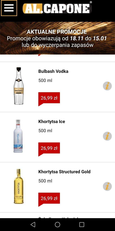 Wódka Khortytsa Structured Gold 0.5 w ALCAPONE