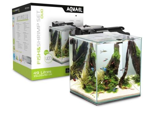AQUAEL Shrimp Set Duo 35 Czarne - Krewetkarium 49L z Wyposażeniem