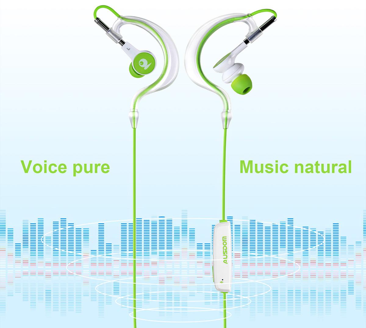 AUSDOM S10 Bluetooth Sportowe Dokanałówki