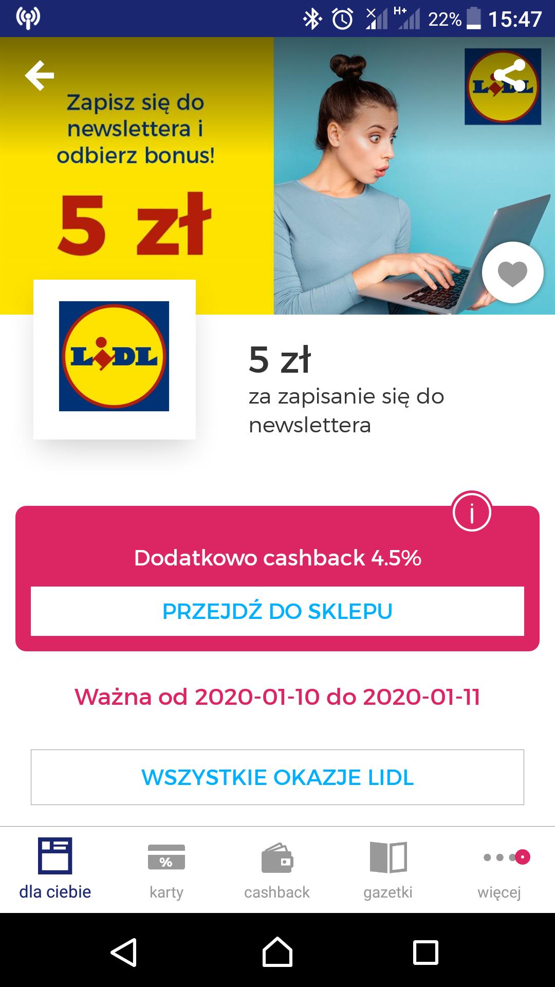 Goodie Zyskaj 5 zł za zapisanie się do newslettera.