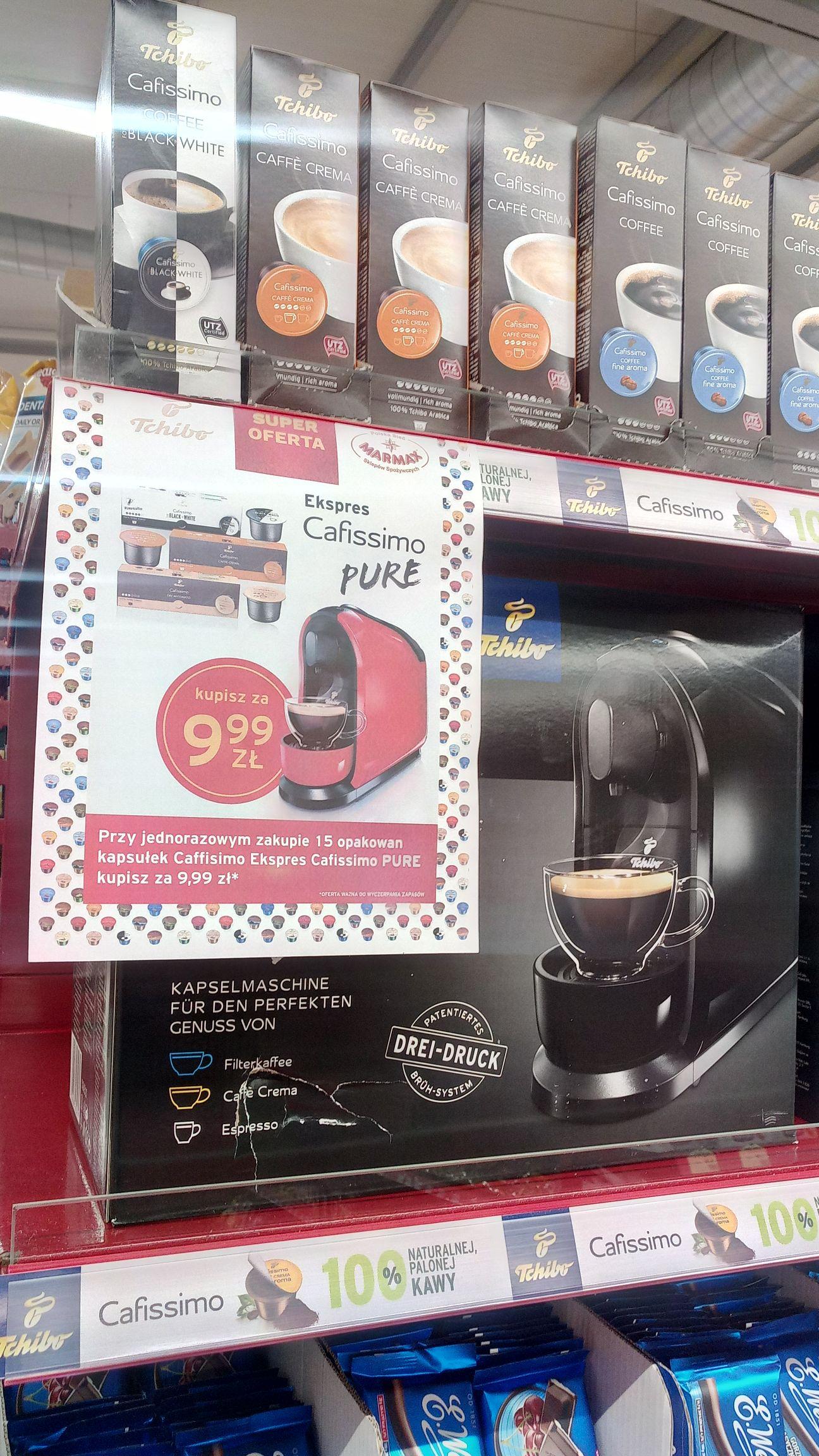 ekspres kapsułkowy Tchibo Pure Black za 9,99zl przy zakupie 15 opakowan kapsulek. Marmax