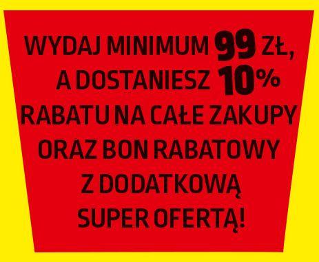 Wydaj minimum 99zł a dostaniesz 10% rabatu na całe zakupy do Biedronki