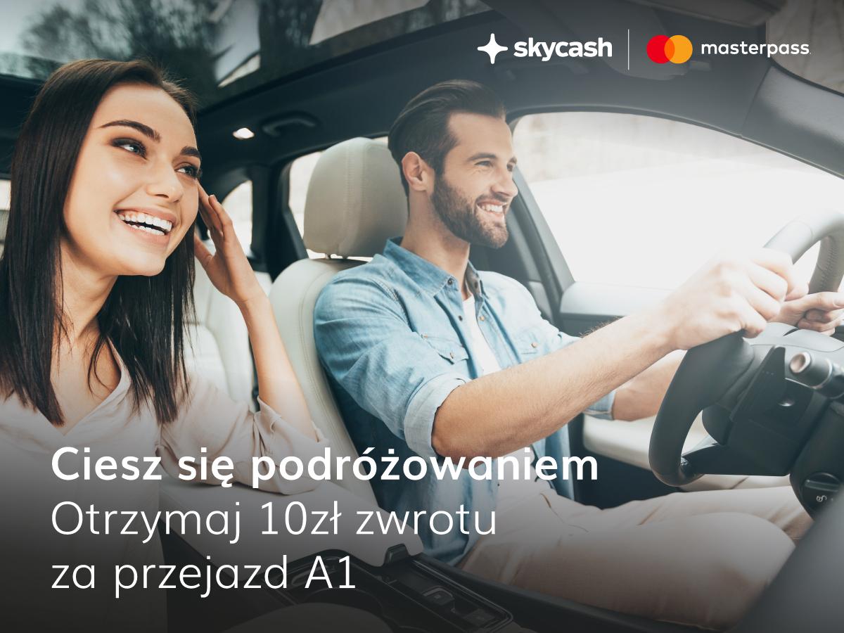 Skycash - do 10 zł zwrotu za przejazd A1