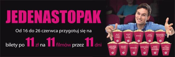 Bilety do kina za 11 zł @ Multikino