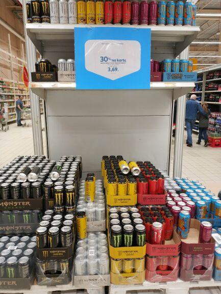 Monster Energy drink 0.5l, możliwe 2.59 za puszkę w Auchan (ogólnopolska)