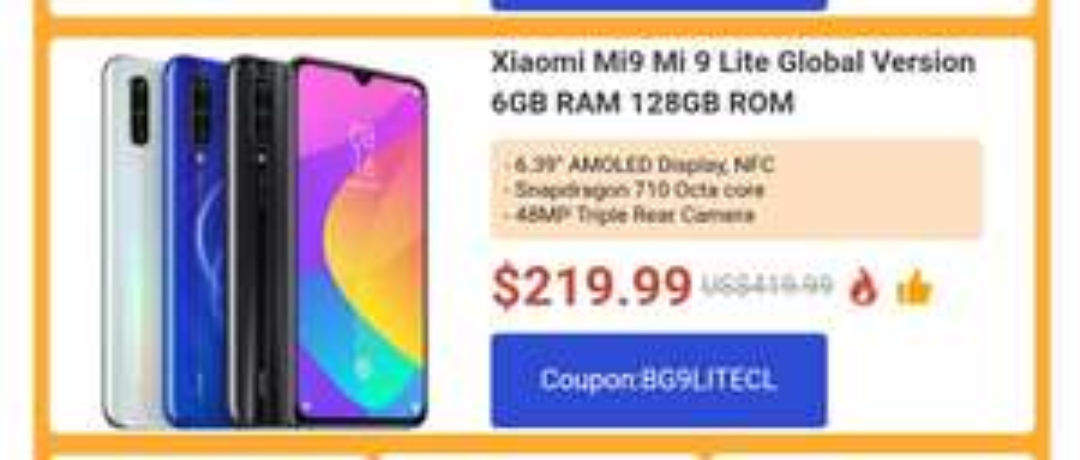 Xiaomi Mi 9 Lite Global 6/128GB