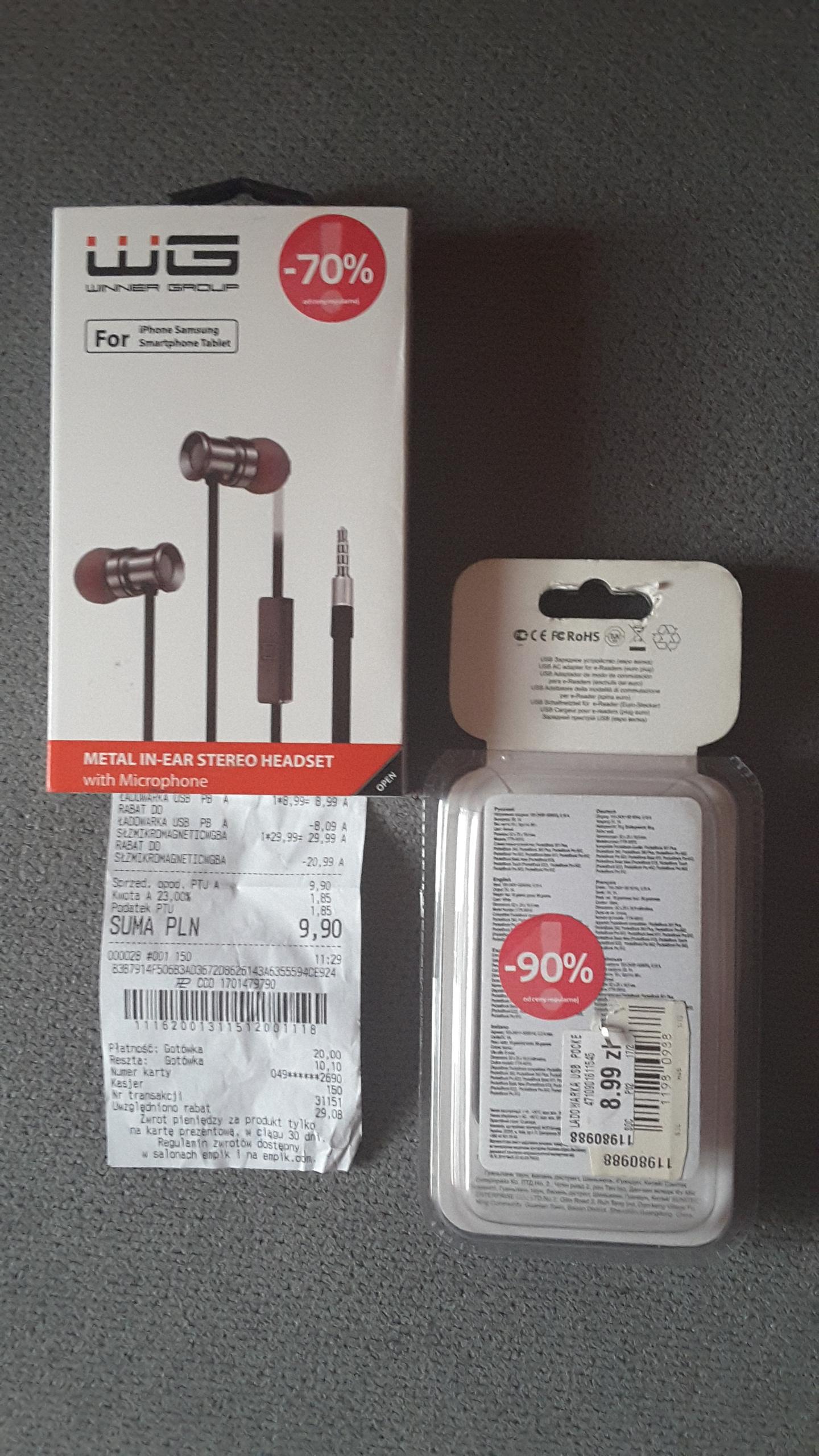 Ładowarka USB PocketBook, Empik