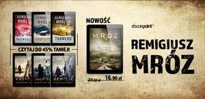 """HIT! """"W cieniu prawa"""" i inne książki R.Mroza -45% @ ebookpoint"""