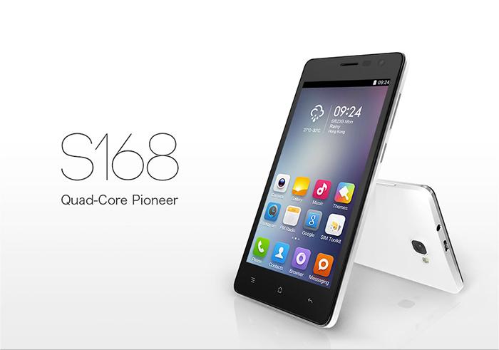 Cubot S168 - Android 4.4 5-calowy ekran QHD IPS 4-rdzenie 1GB RAM 8GB ROM @GearBest