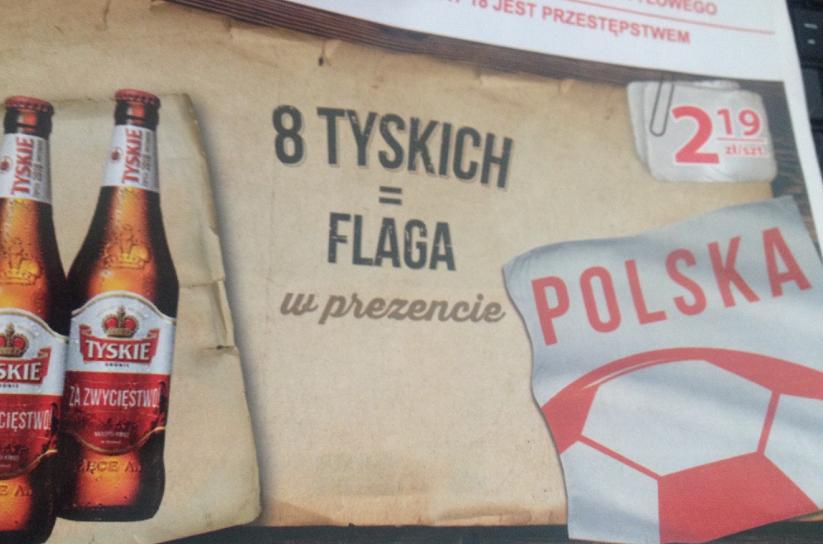 Flaga w prezencie przy zakupie 8 Tyskich @ Nasz Sklep