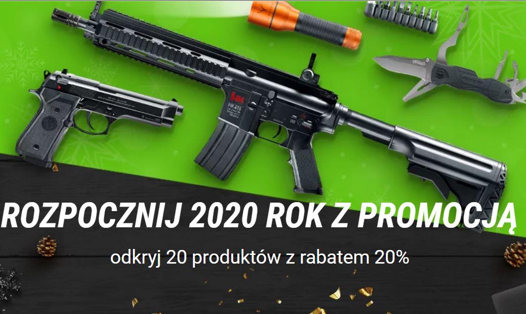 20 produktów z rabatem 20% w combat.pl - noże, latarki, broń (wiatrówki, pistolety ASG)