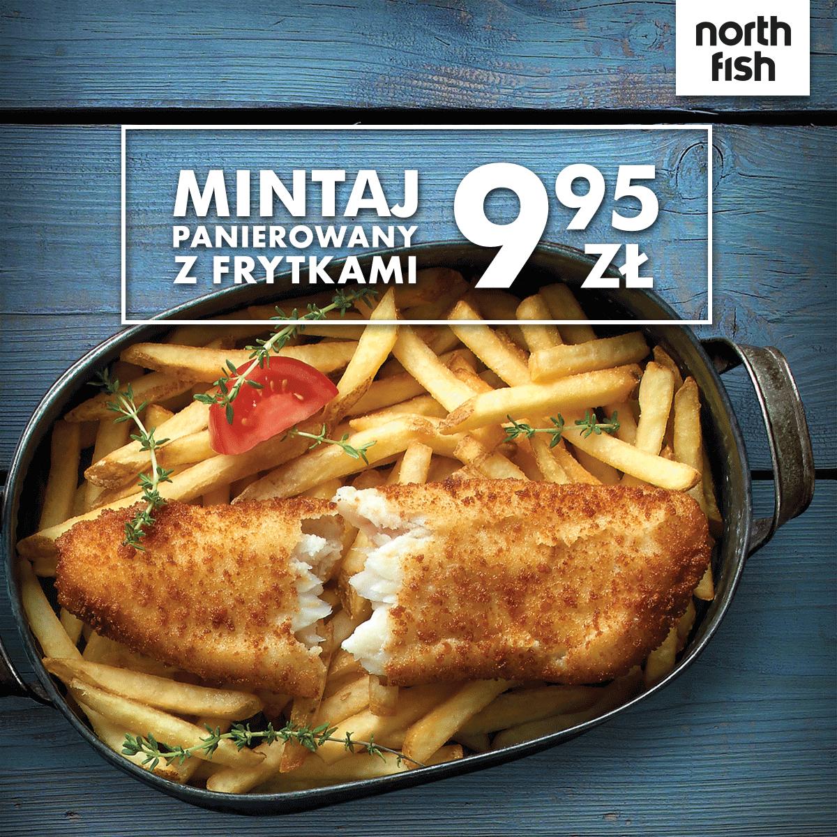 North Fish - Mintaj z frytkami za 9,95 zł. Sposób na lemoniadę za 1 grosz!