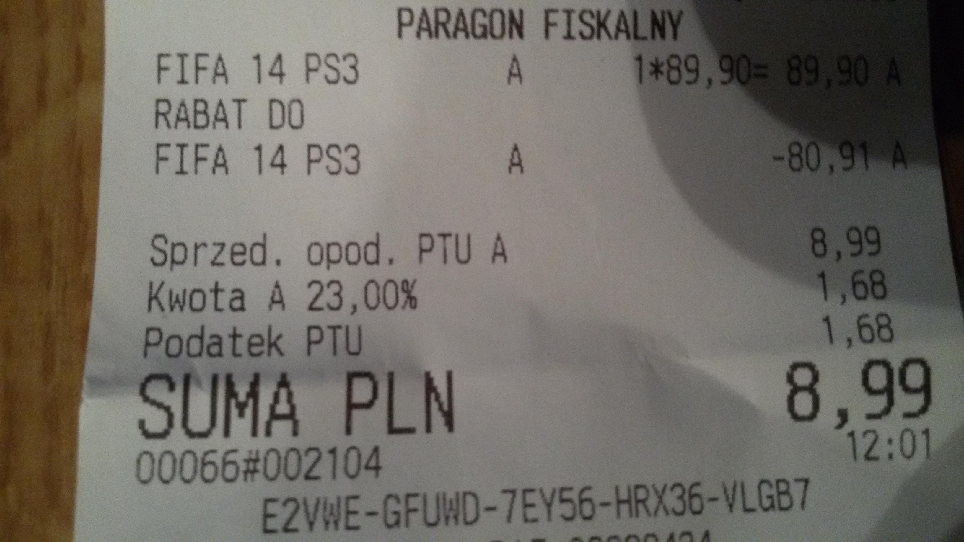 Fifa 14 PS3,  wyprzedaż w Empik!!!