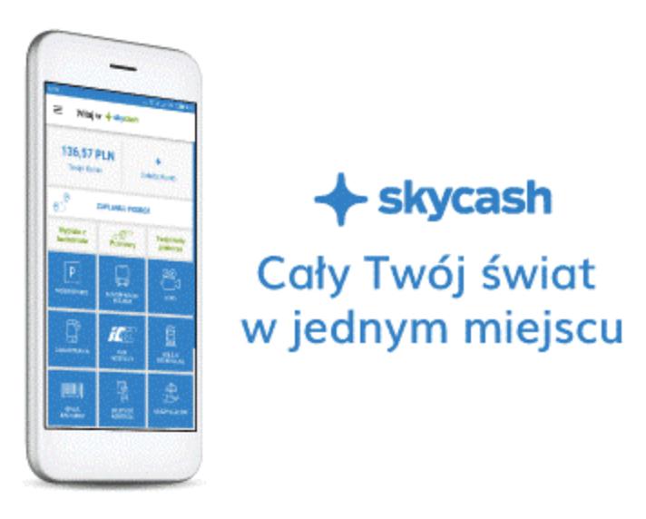 Skycash 30% zwrotu za bilety komunikacji miejskiej lub kolei Regio
