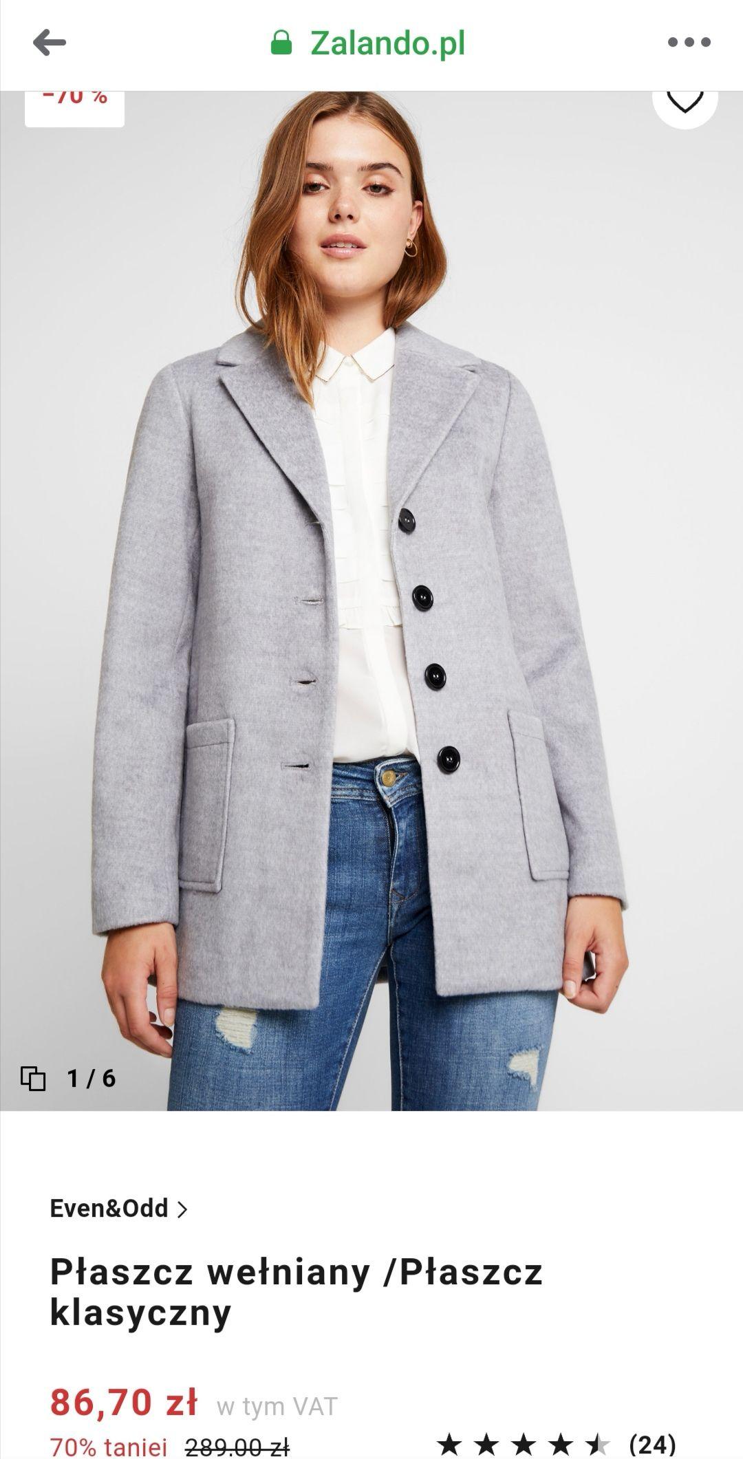 Płaszcz zalando