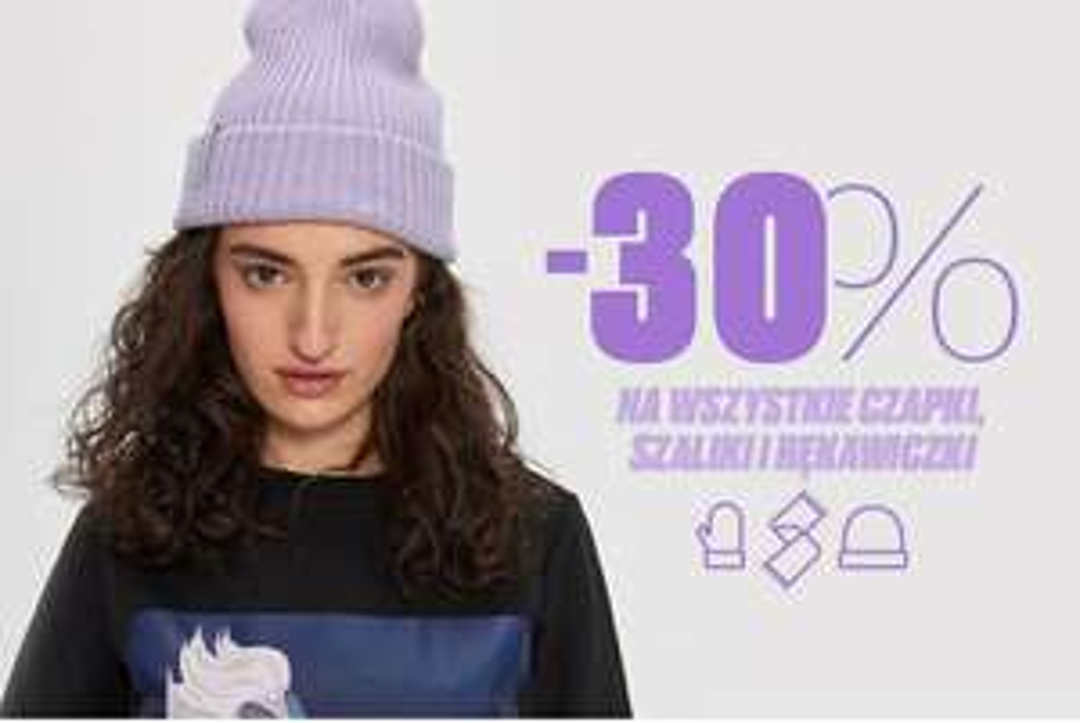 Wielka wyprzedaż house dodatkowy rabat -30% na czapki szale i rękawiczki