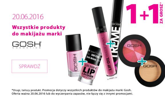 1+1 za GROSZ na produkty marki Gosh oraz Rimmel (DZIŚ) @ Hebe