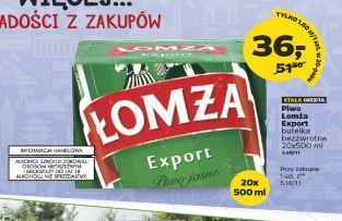 20 butelek 0,5 piwa Łomża Export za 36zł @ Netto