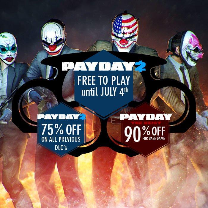 PayDay 2 za darmo do 4 Lipca/duża przecena!