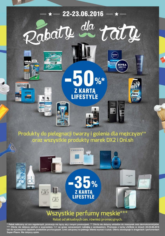 -50%* produkty do pielęgnacji twarzy i golenia dla mężczyzn SUPERPHARM