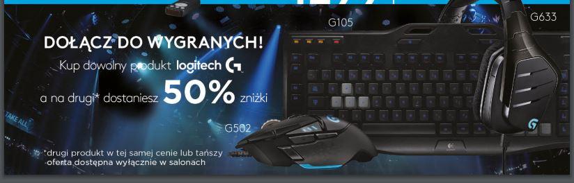 50% rabatu na drugi produkt LOGITECH @ Komputronik
