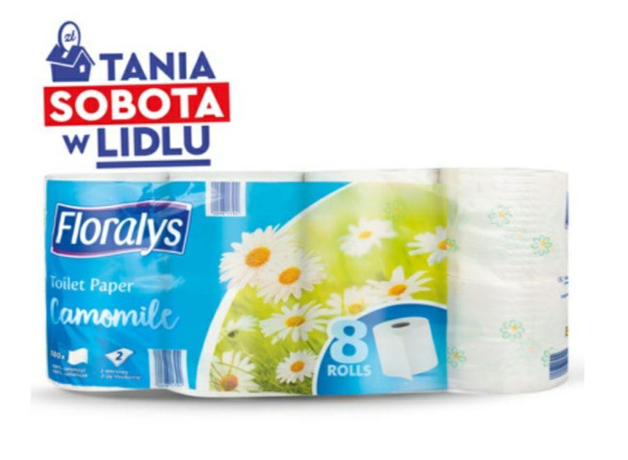 Papier toaletowy FLORALYS 2 warstwowy taniej przy zakupie 2 szt lidl