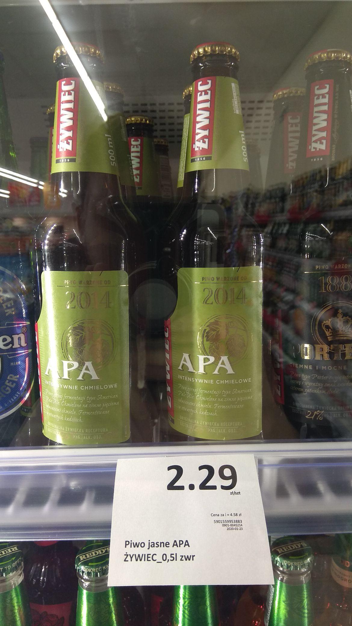 Piwo Żywiec APA 0.5l w butelce. Mila