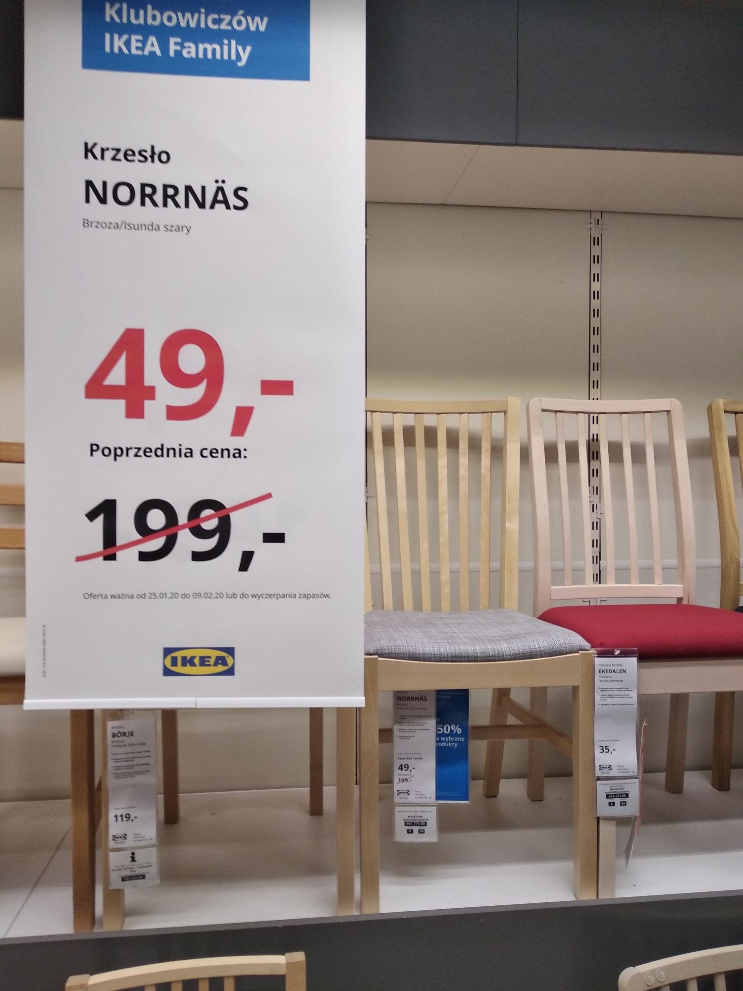IKEA Kraków - różne rodzaje krzeseł do jadalni po 49 zł ceny z kartą IKEA FAMILY