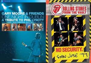 Blu-ray Gary Moore - One Night In Dublin: A Tribute To Phil Lynott 24zł / The Rolling Stones From The Vault: No Security San Jose 1999 28zł