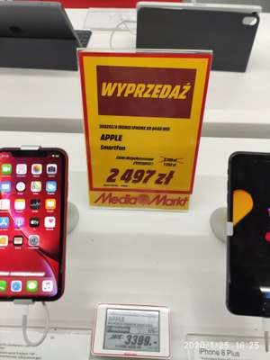 Apple Iphone XR 64gb RED 3D825Z/A (demo) @ Mediamarkt Olsztyn