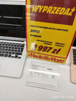Apple Macbook Air 256gb (2017r) MQD42ZE/A @mediamarkt Olsztyn