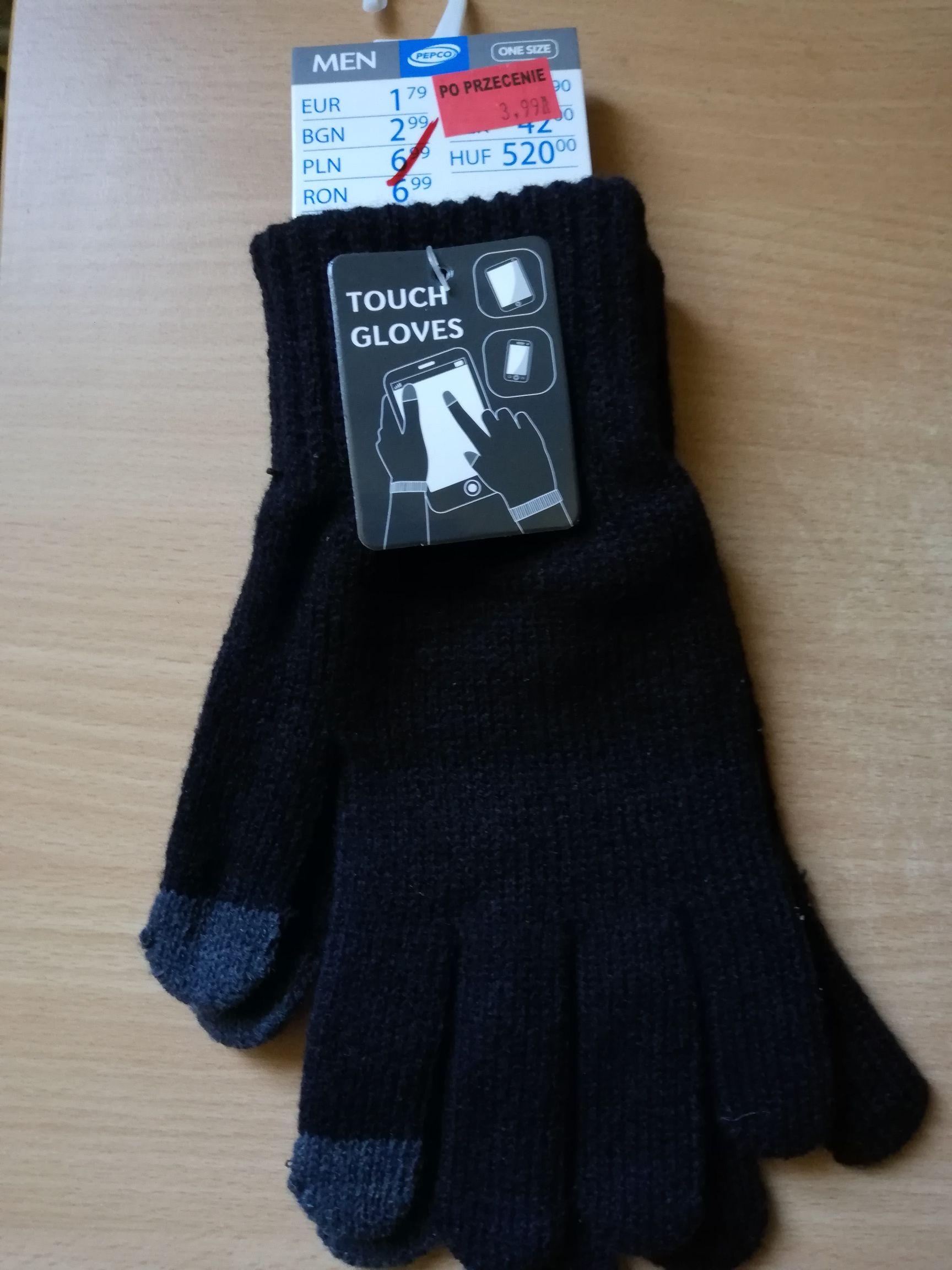 Rękawiczki do smartfona, damskie i męskie (one size) . Pepco Alwernia