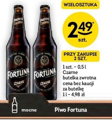 Fortuna Czarne 2.49 przy zakupie dwóch butelek @Żabka