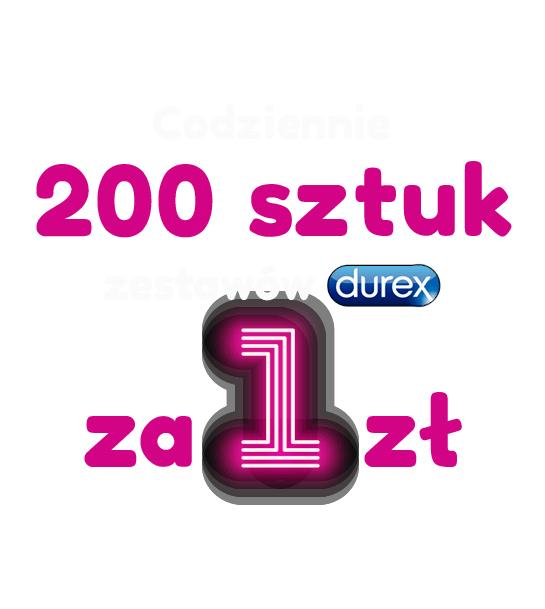 Codziennie do 30.01 200 zestawów Durex po 1zł !