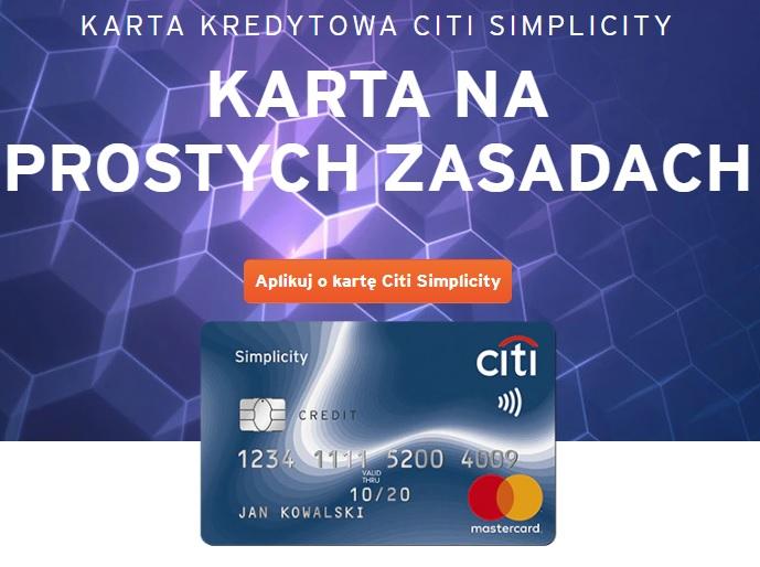 500 zł w gotówce za wyrobienie darmowej karty kredytowej Citi Simplicity   Citibank