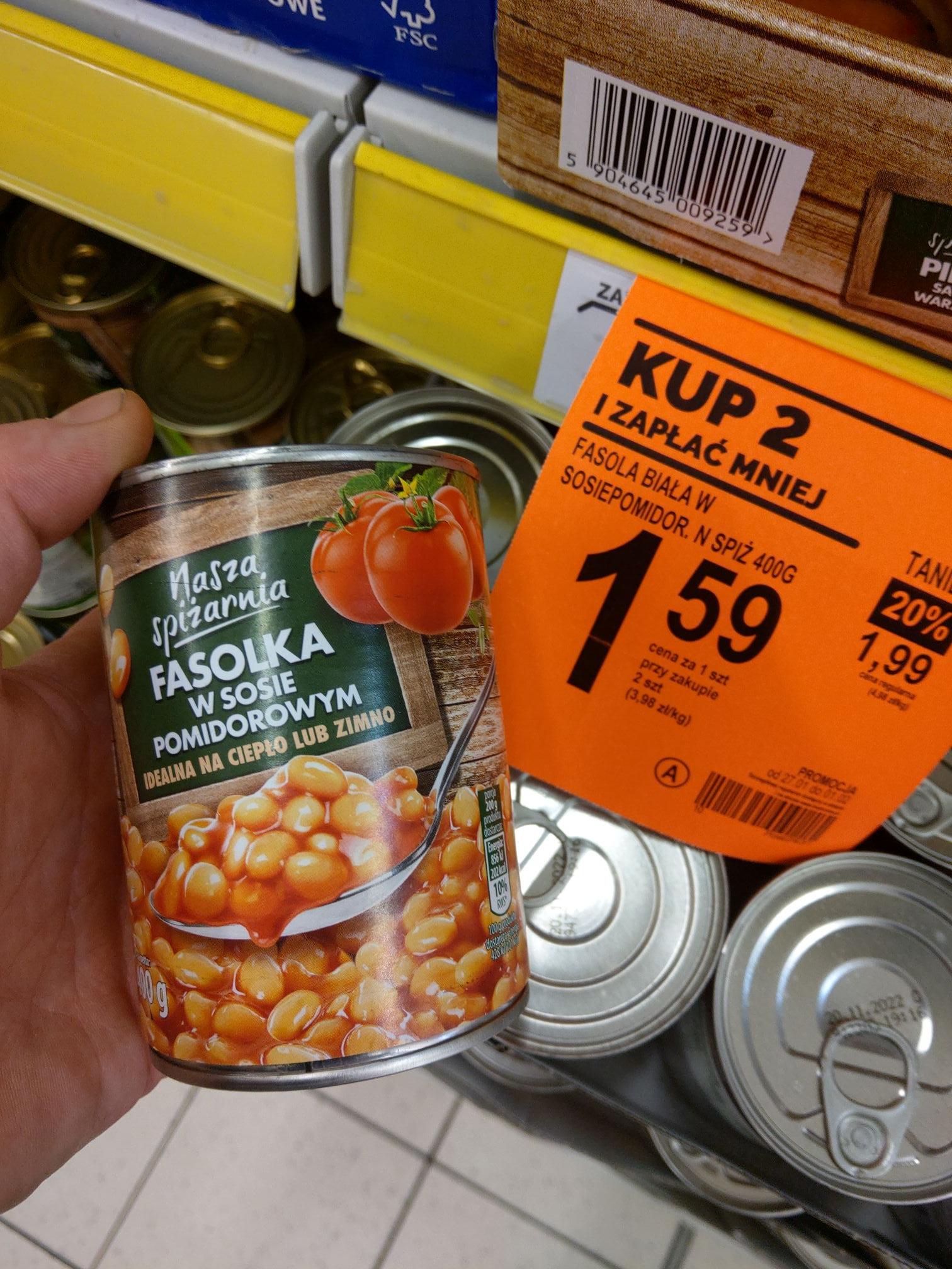 Fasolka w sosie pomidorowym - Biedronka