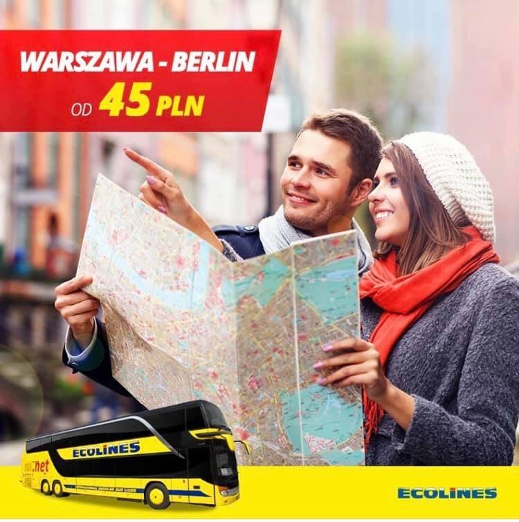 ECOLINES Warszawa - Berlin za 45 zł